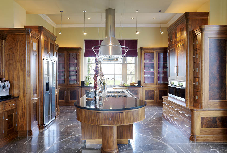 Well designed layout  was vital to this working kitchen
