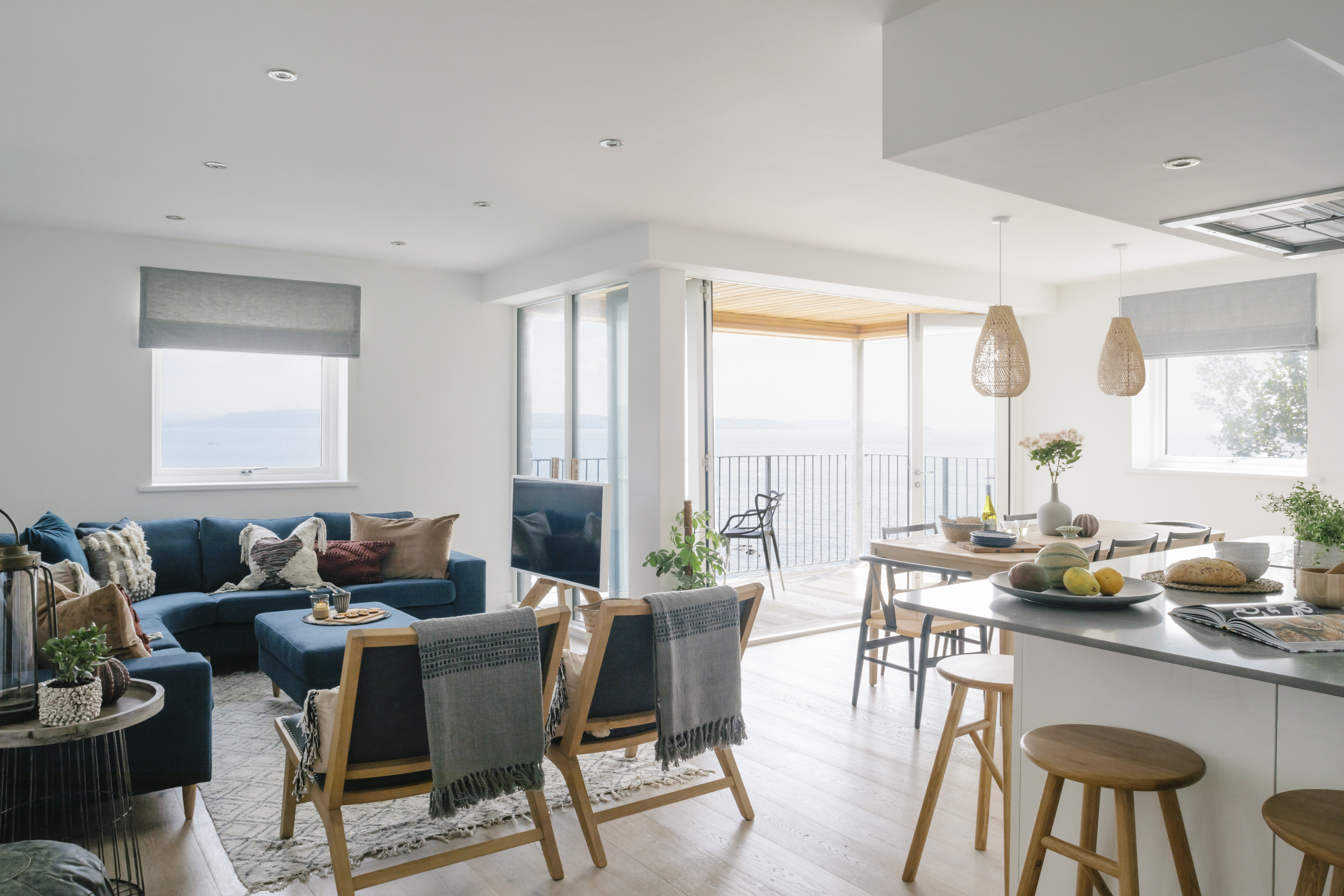 Contemporary living space, Cawsand