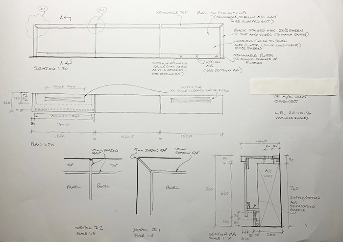 AC Unit Plan and Sections