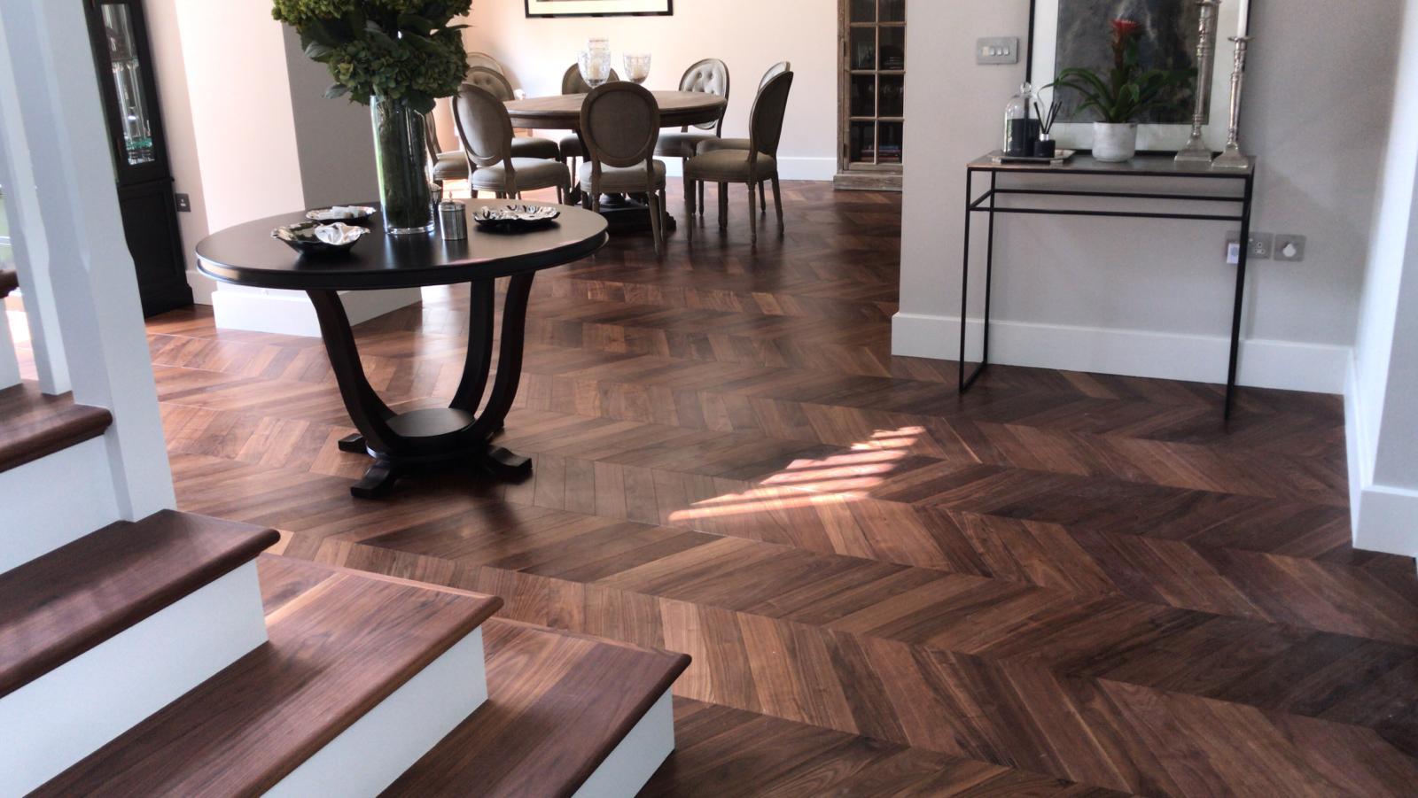 American Black walnut engineered flooring in an apartment