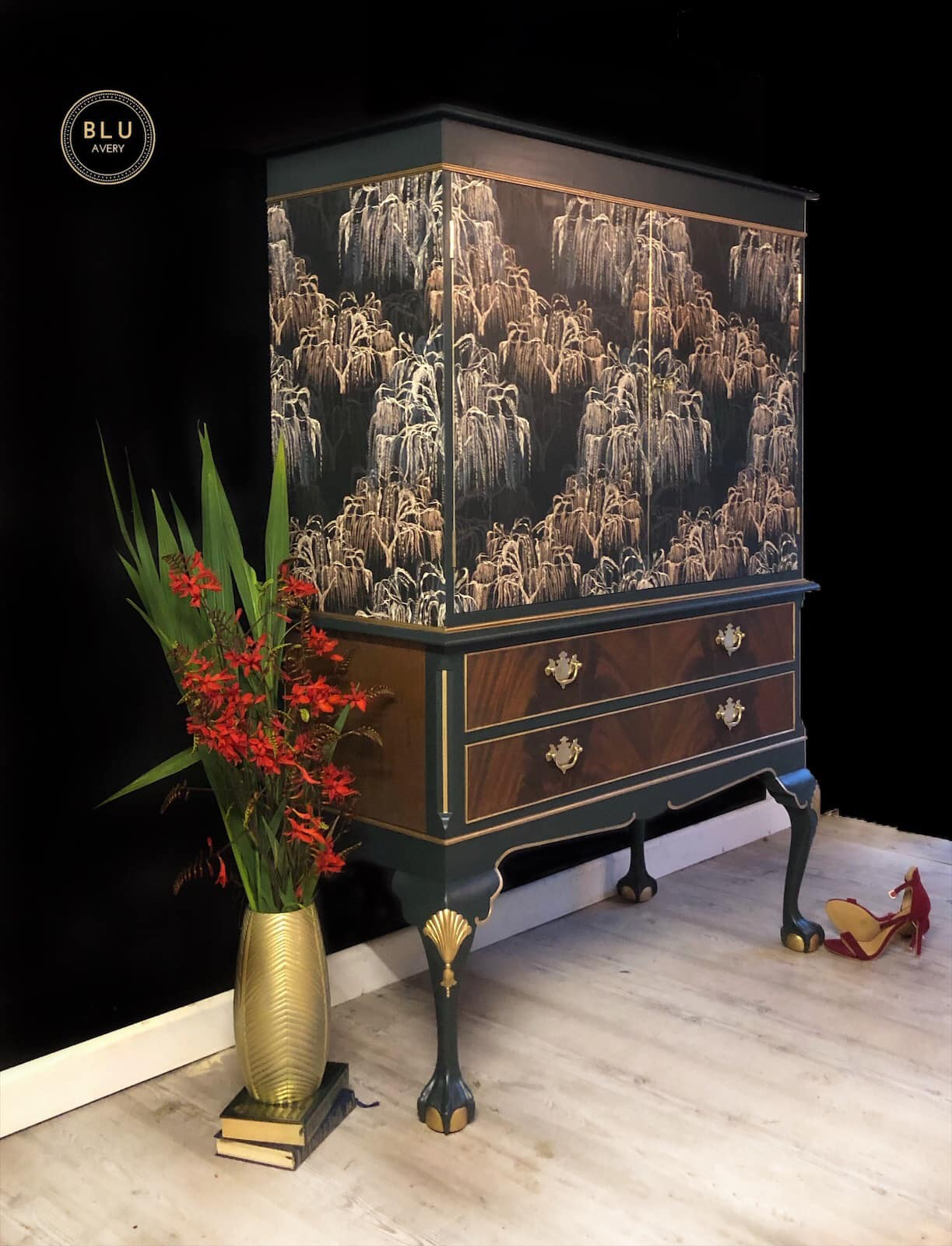 The House of Upcycling: Blu Avery Designs Refinished Cocktail Cabinet