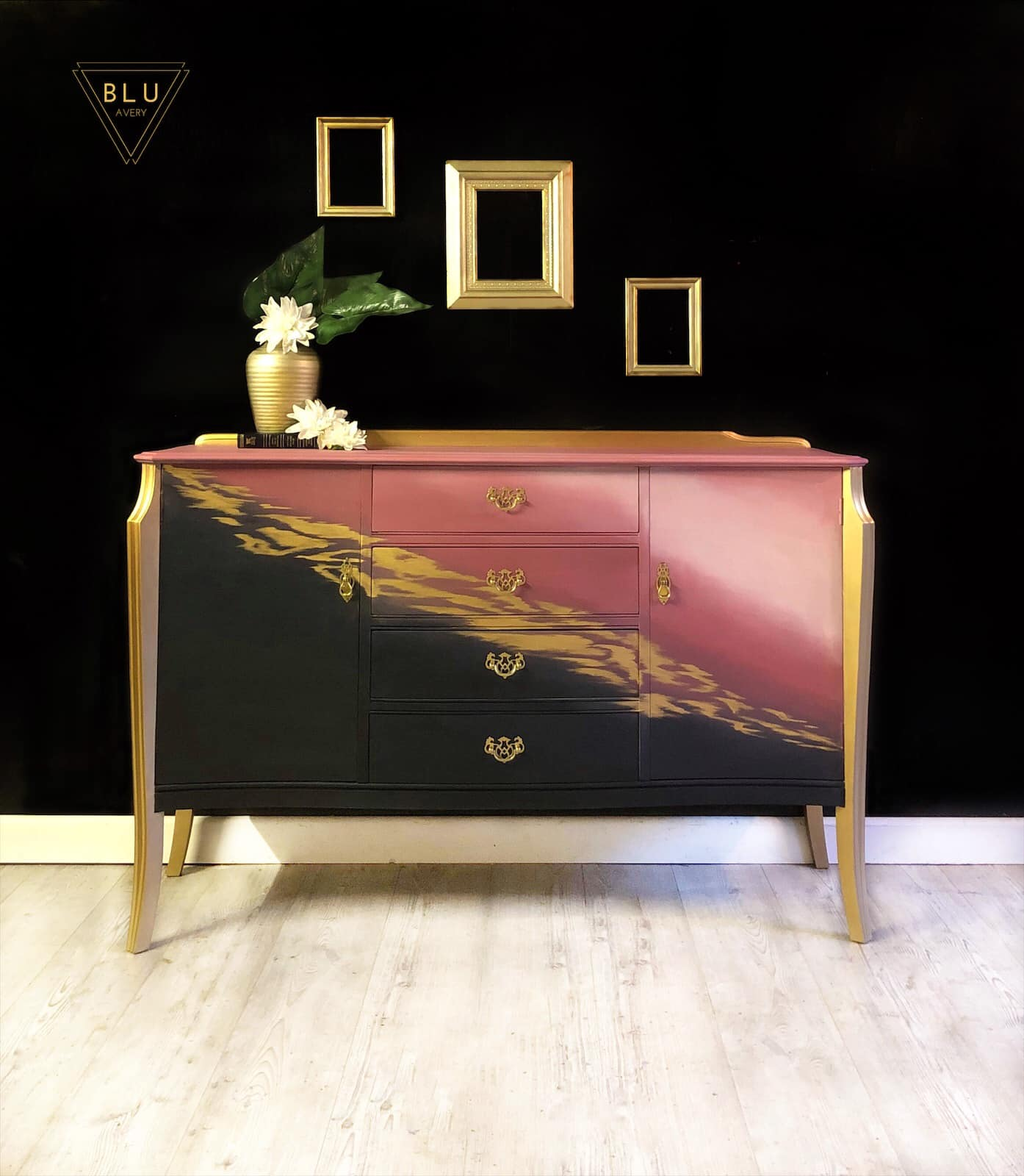 The House of Upcycling: Blu Avery Designs Gold Feature Sideboard
