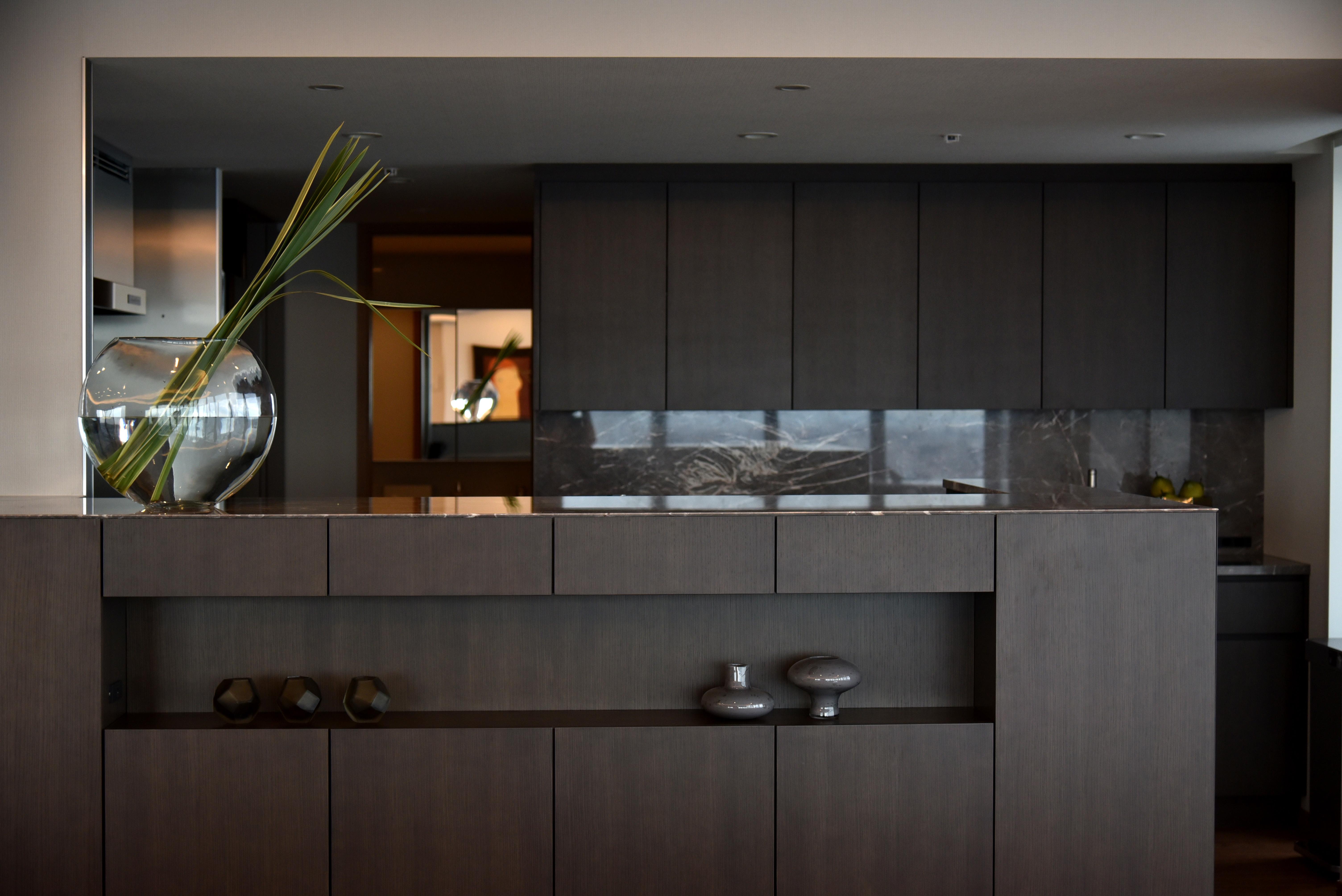Bespoke Kitchen,storage,  Marble Stone, fixture, Built-in furniture