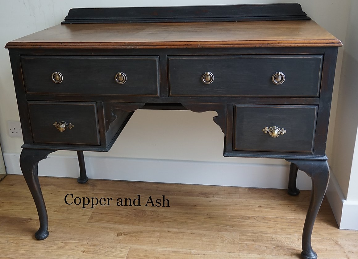 The House of Upcycling: Copper & Ash Heritage Chic Black Desk