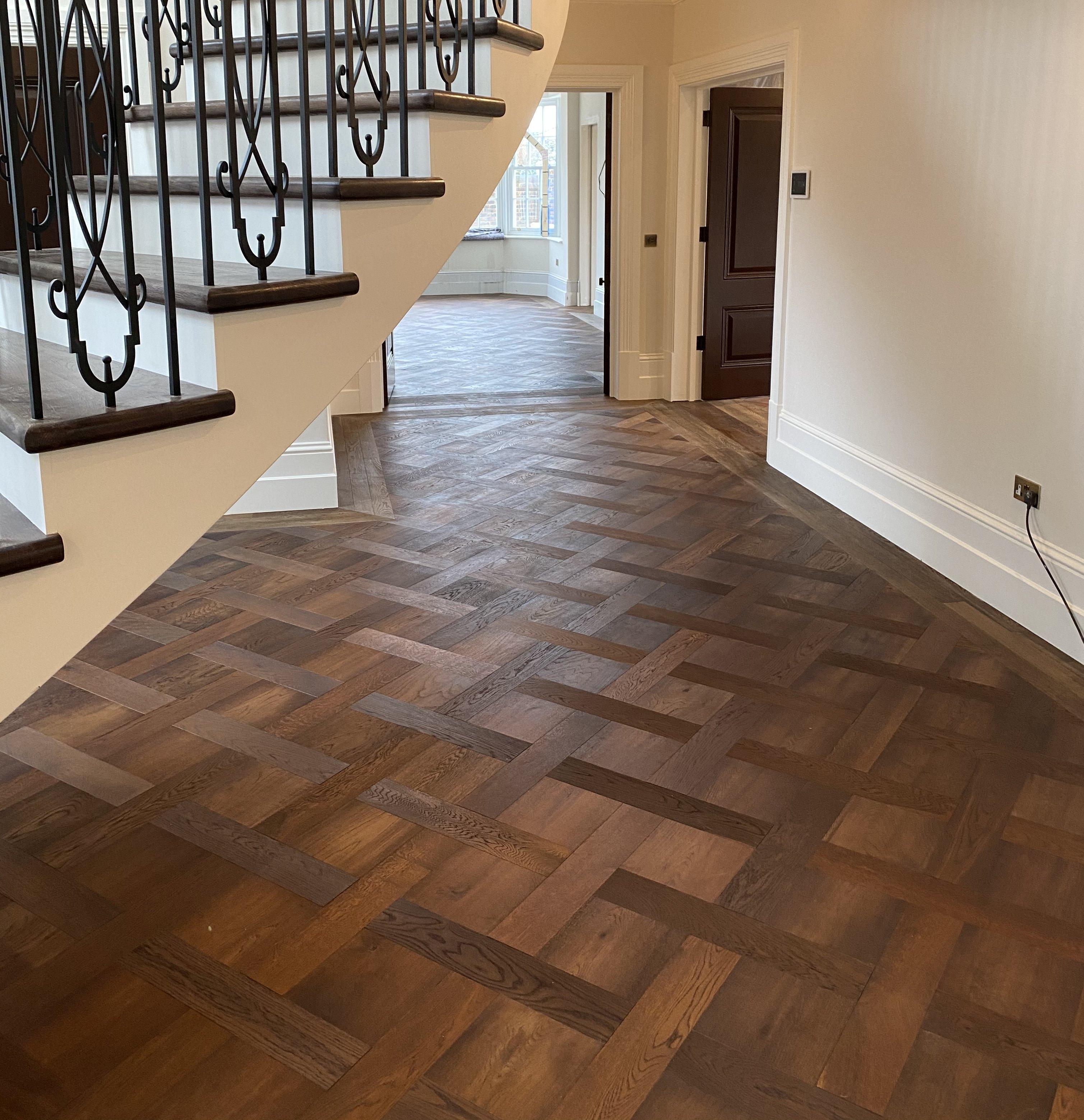 New Herringbone Basket weave pattern parquet wood flooring TW E931