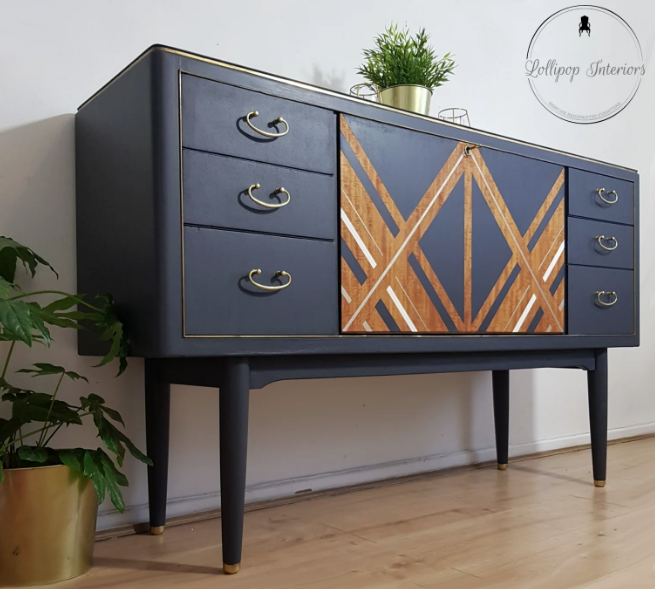 The House of Upcycling: Lollipop Interiors Mid Century Sideboard in Ash Grey