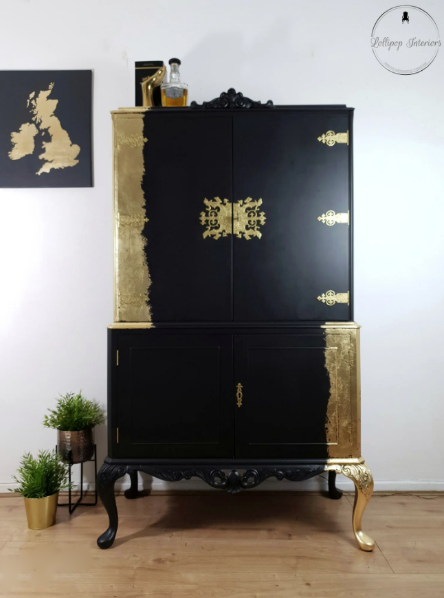The House of Upcycling: Lollipop Interiors Refinished & Gilded Cocktail Cabinet