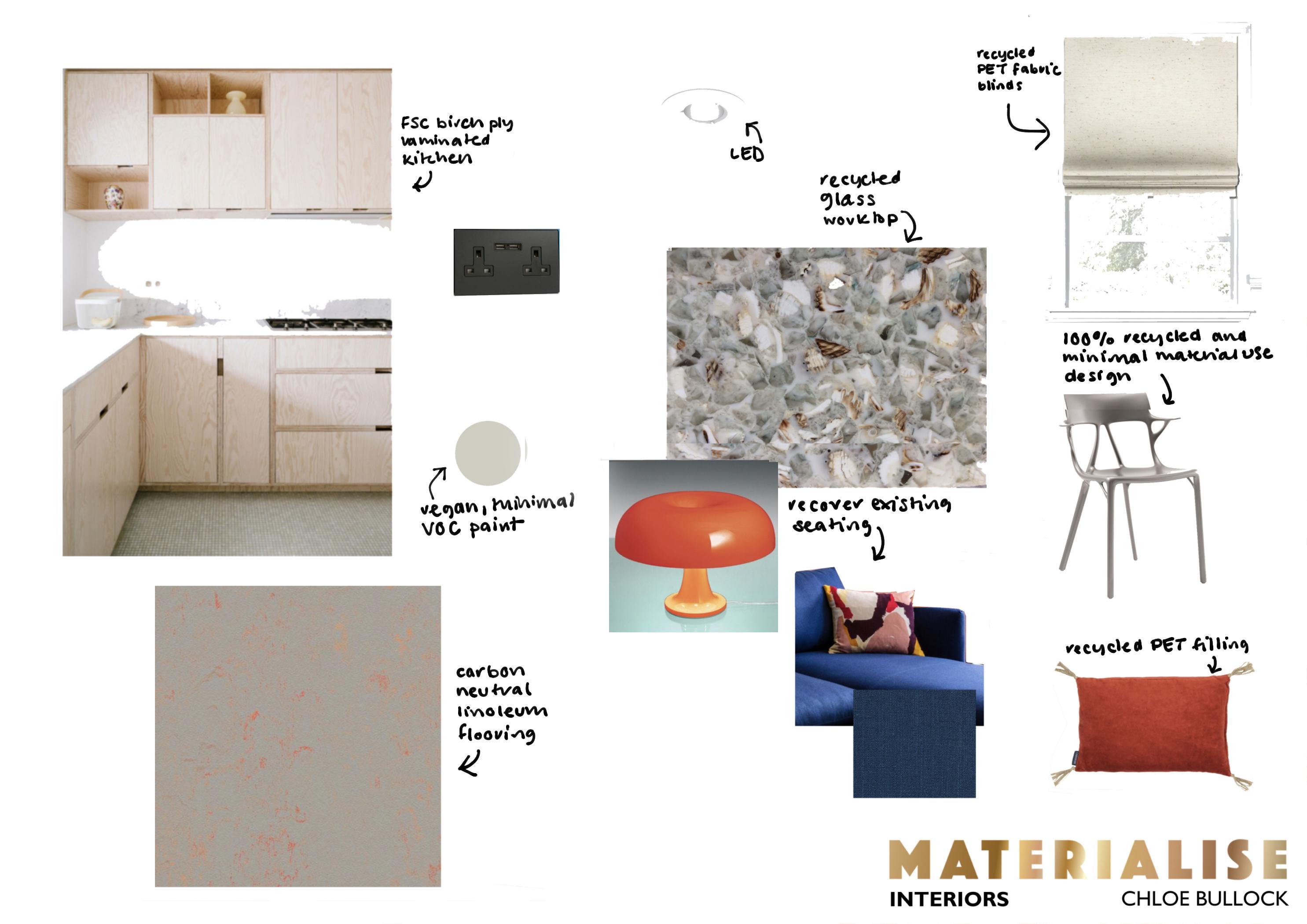 Sustainable interior design, online interior design, interior designer Brighton
