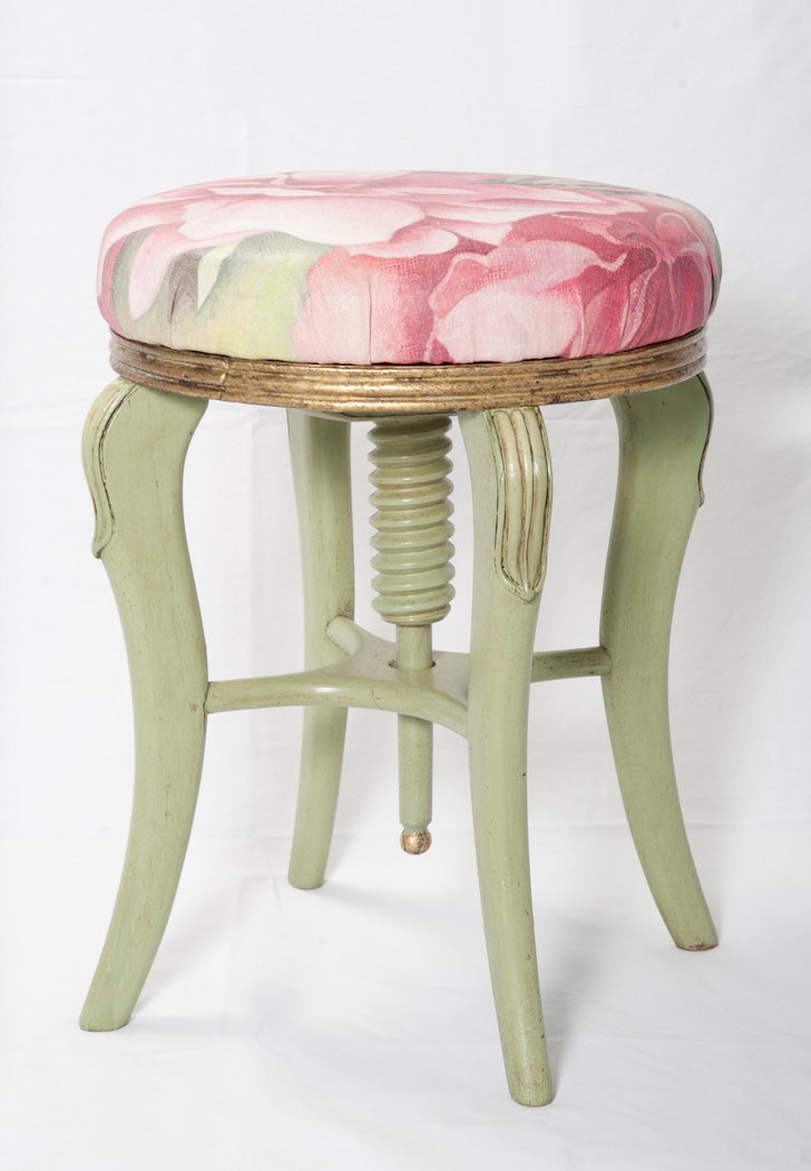 The House of Upcycling: Sue Gifford Design Hand Painted and Refinished Piano Stool