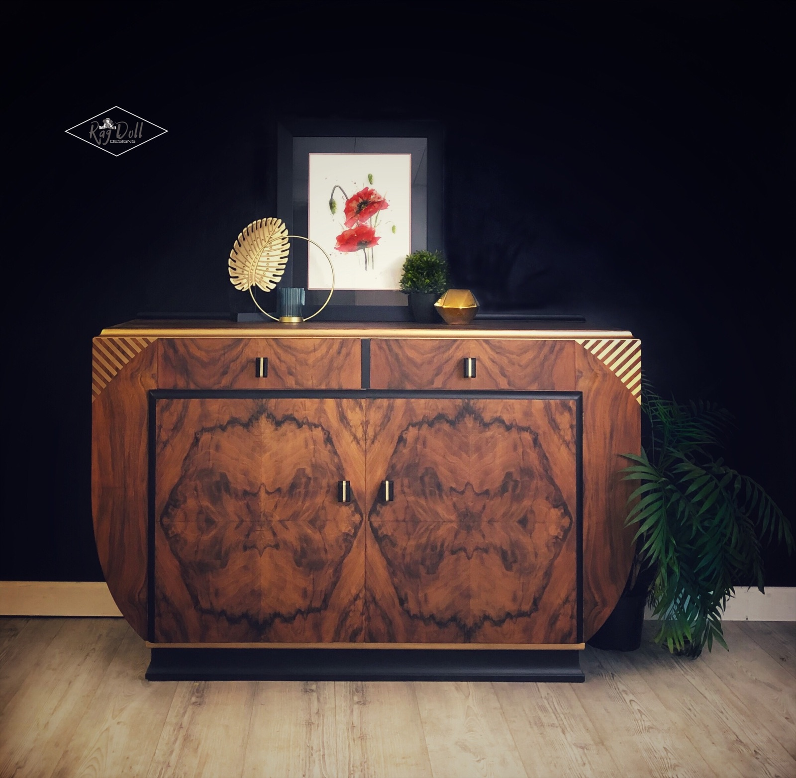 The House of Upcycling: Rag Doll Design Studio Refinished Art Deco Style Sideboard