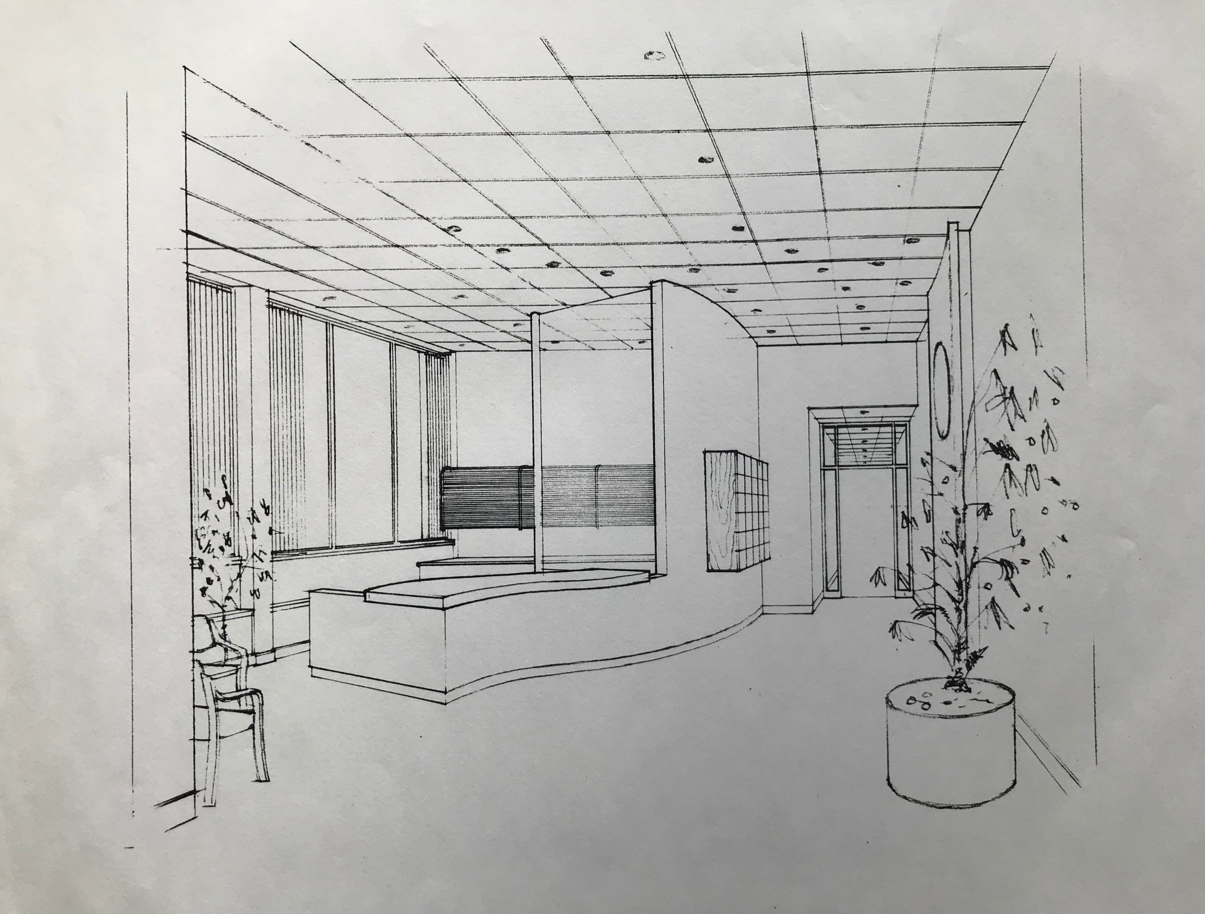 Reception area sketch
