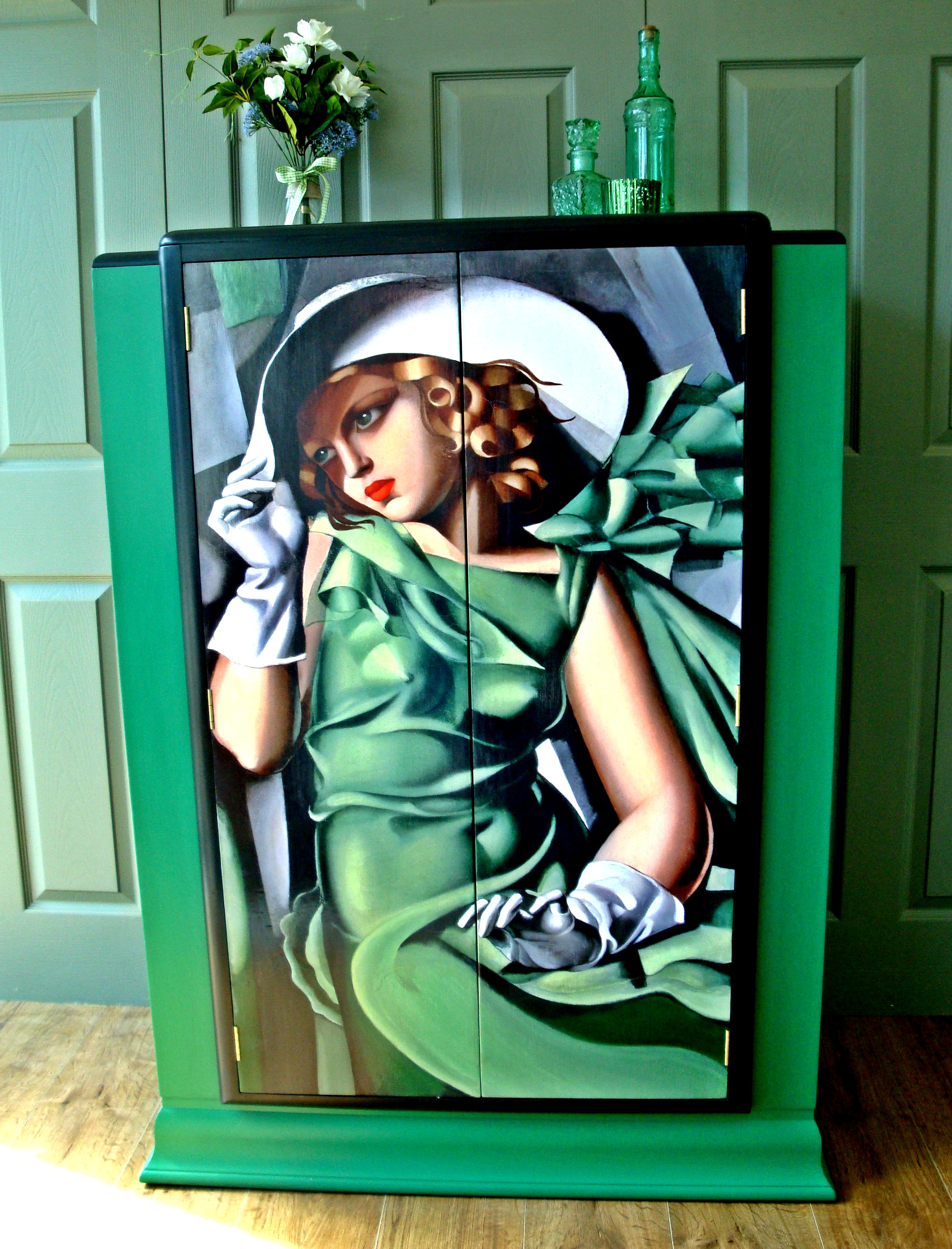 The House of Upcycling: Siren Designs de Lempicka Decoupaged Cabinet