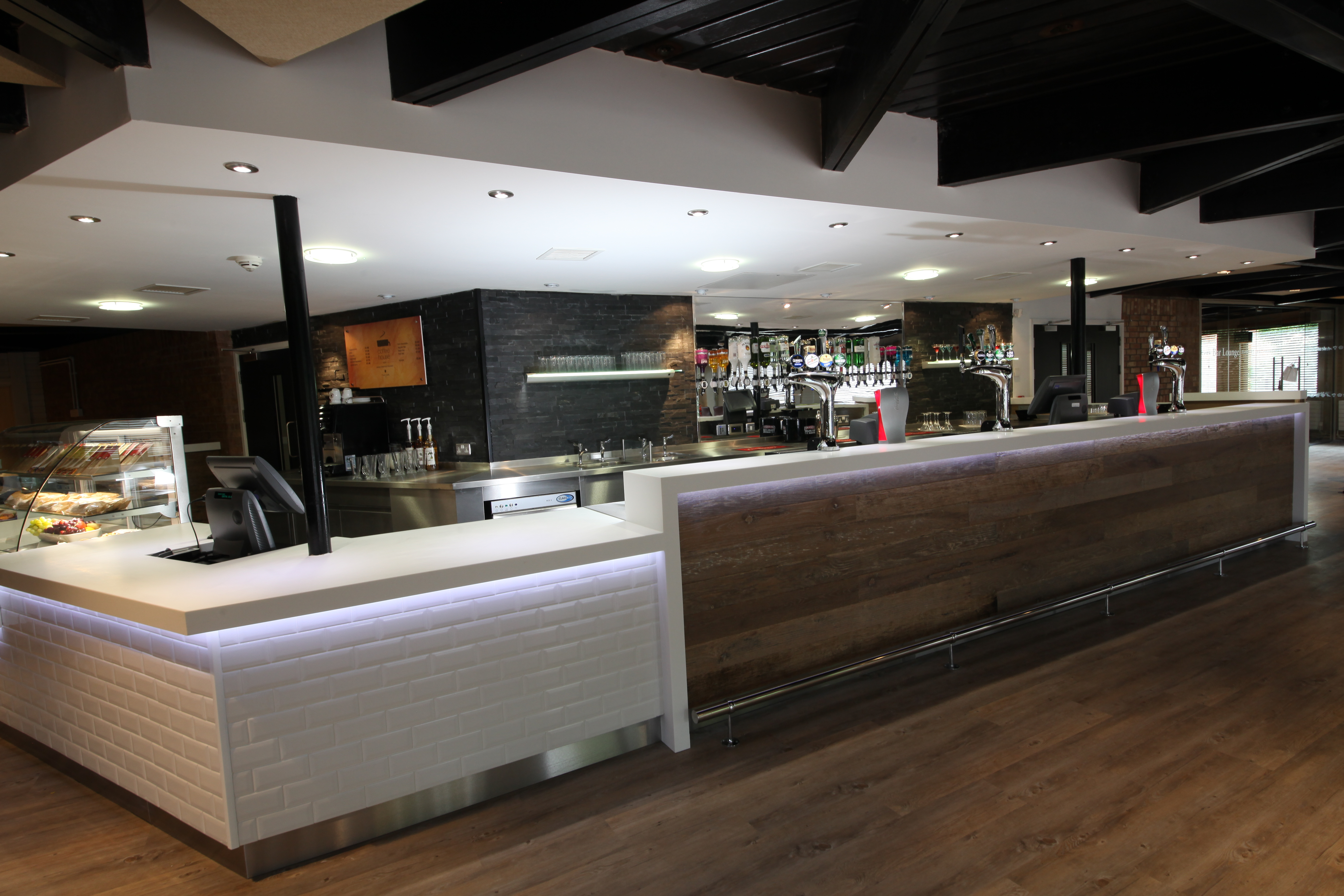 Tristone Pure White - Student Servery Area at the Lawns, University of Hull