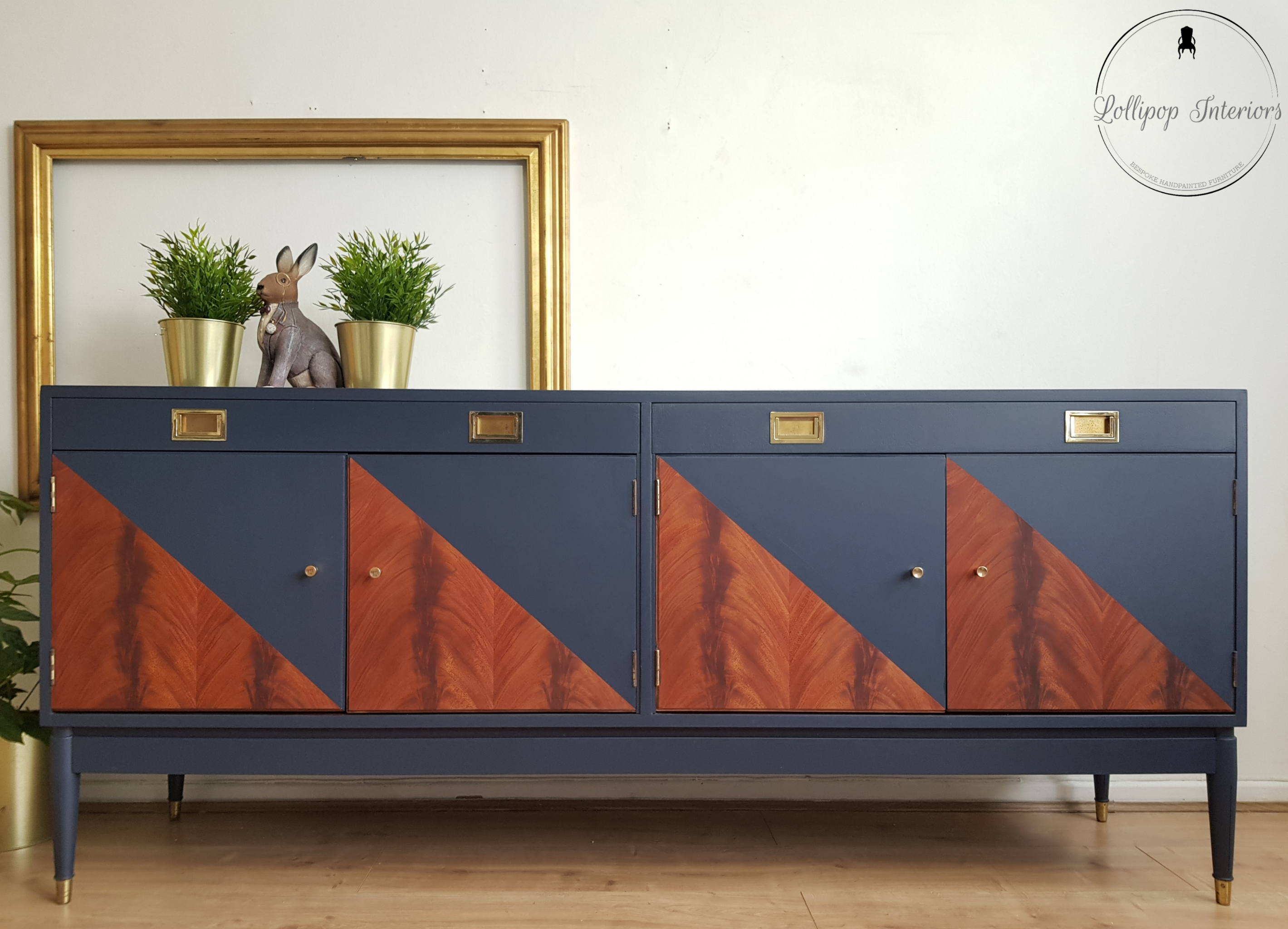 The House of Upcycling: Lollipop Interiors Mid Century Geometric Design Sideboard