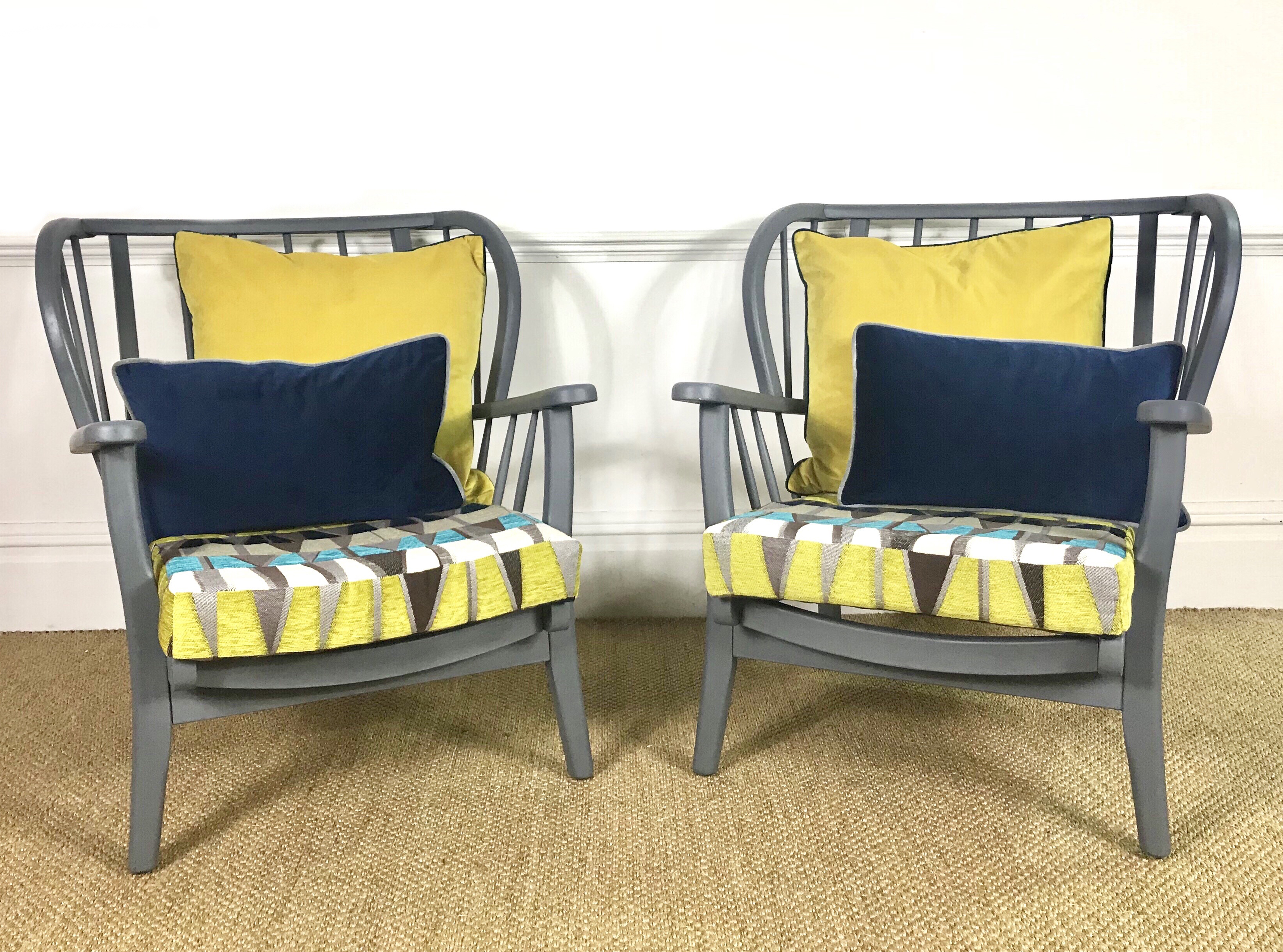 The House of Upcycling: Colour Me KT Joynson Holland & Co Vintage Armchairs