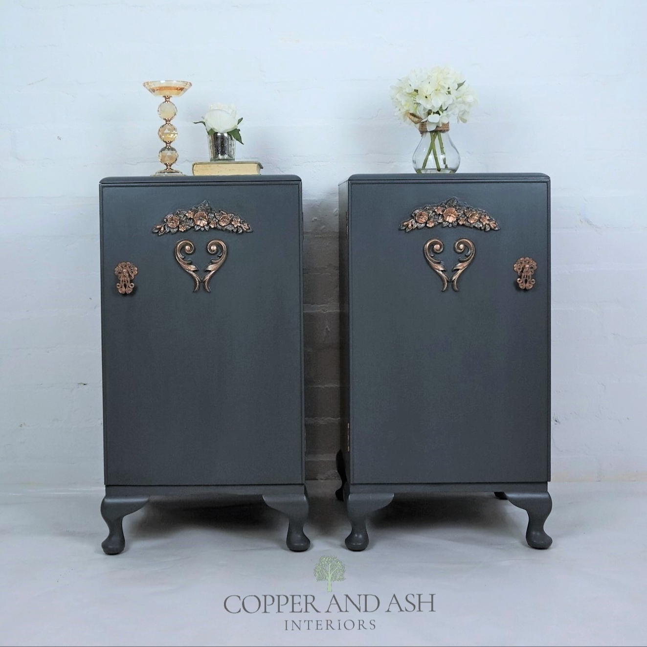 The House of Upcycling: Refurbished French-Style Bedside Cabinets