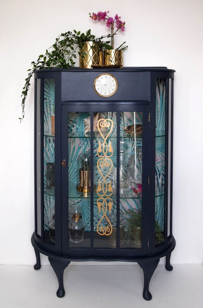 The House of Upcycling: Webb & Gray Decoupaged Vintage Display Cabinet