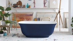 Amiata freestanding bath in RAL 5003 Matt by Victoria + Albert baths