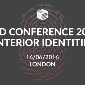 ANNOUNCING THE BIID ANNUAL CONFERENCE 2016: INTERIOR IDENTITIES